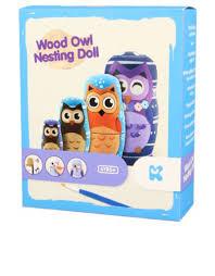 keycraft wood owl nesting doll painting kit