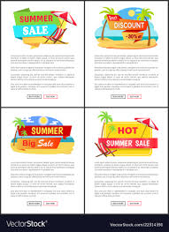 Web Design Sample Text Online Summer Sale Web Pages With Sample Text Set