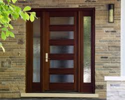 front door with many rain glass panes