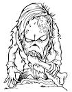 Зомби раскраски онлайн