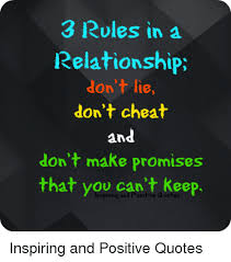 Cheating Quotes Magnificent 48 Rules In A Relationship Don't Lie Don't Cheat And Don't Make