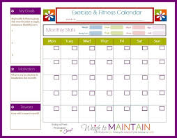 Monthly Workout Schedule Template New And Improved Printable Fitness Calendar Workout
