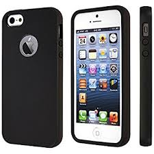 apple 5s case. iphone se case, 5s black durable shock absorbing rubber cover with excellent grip fits 5 / 5s/ - tough \u0026 protective and light slim apple case