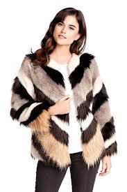 rock star multicolored faux fur jacket 1