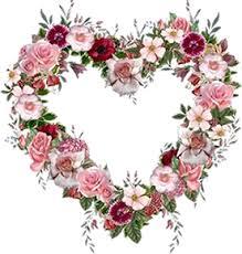 Resultado de imagem para coração e flores