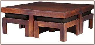 coffee table with stools for your home