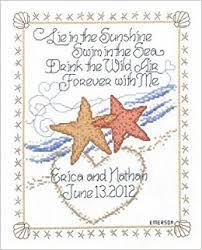 Starfish Chart Starfish Wedding Cross Stitch Chart Imaginating Amazon Com