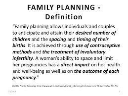 family planning in  family