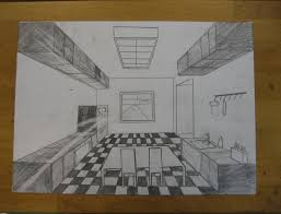 kitchen 1 point perspective. an example completed 1 point perspective kitchen 1_point_perspective_kitchenjpg d