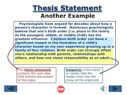 thesis essay sample essays for school children essay example thesis statement ppt