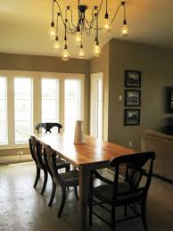 ... Attractive Dining Room Light Fixture Design Ideas Bulbs Chandelier  Lighting Wooden Chairs And Table White Interior ...