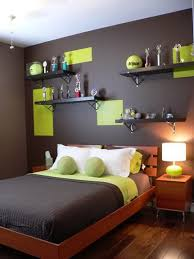 Dark Wall Color and Wood Beds Furniture Sets in Teenage Girls