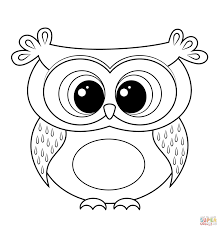 Coloring Pages Of Cartoon Owls Archives - Mente Beta Most Complete ...