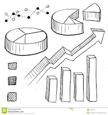 Line Chart Sketch Graph And Chart Elements Sketch Stock Vector Illustration