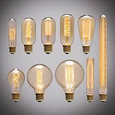 edison style lighting fixtures. Retro Edison Light Bulb E27 220V 40W A19 A60 ST64 T10 T45 T185 G80 G95 Filament Style Lighting Fixtures I