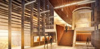 architectural interior renderings. Visitor Center Interior Perspective | Visualizing Architecture Architectural Renderings N