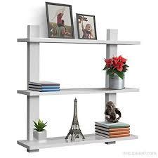 asymmetric square wall shelf decorative