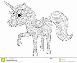 Unicorno Da Colorare Per Bambini Quadro Televisivo Di Coloritura
