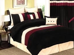 burgundy and black velvet comforter bed set   Details about 8 Pcs Burgundy/ Black /