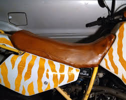picture of leather motorcycle seat from a leather jacket