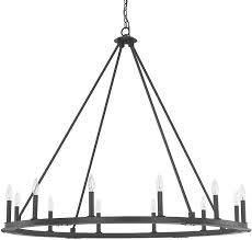 capital lighting 4912bi 000 pearson modern black iron hanging chandelier loading zoom