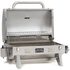 portable grill stainless steel propane gas outdoor cooking camping tailgate new
