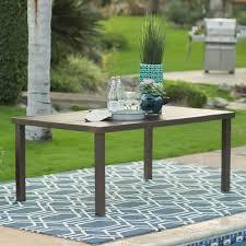 belham living san marino 68 x 40 steel slatted dining table com