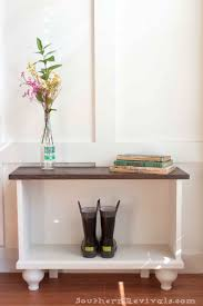 white entryway furniture. Southern Revivals | DIY Entryway Bench For Small Spaces White Furniture E