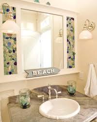 coastal bathroom designs: beachglass bathroom seaglass mosaic craft beachglass bathroom