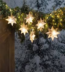 Snowflake LED String Lights, Battery Operated   PlowHearth