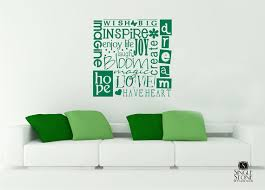 green color text wall art decorations beautiful comfortable interior stickers decals square shape on personalized text wall art with wall art design ideas green color text wall art decorations