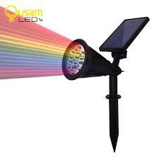 7led Zonne Verlichting Tuin Spotlight Auto Veranderen 7 Kleuren Zonne Energie Gazon Lamp Wandlamp Outdoor Decoratie Verlichting 1 Pcs