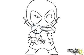 Small Picture Deadpool Coloring Pages Online Free Download Coloring Pages