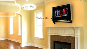 mounting tv over gas fireplace enter image description here ok to