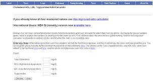 The Cholesterol Hdl Ldl Triglycerides Ratio Calculator