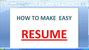 How To Create Resume In Ms Word Publicassets Us