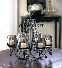 chandeliers candle chandelier centerpiece metal the prettiest tealight hanging glass holders from r crystal chande