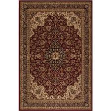 style selections daltorio red rectangular indoor machine made oriental area rug common 5
