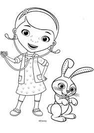 Doc Mcstuffins With Carrots Bunny Coloring Page Coloring Pages