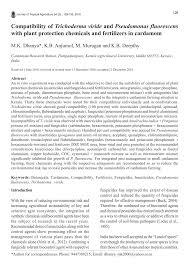 Pdf Compatibility Of Trichoderma Viride And Pseudomonas