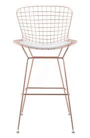 bertoiastoolrosegoldwhitepad3jpg rose gold bar stools e54