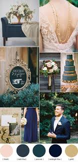 Dark Blue And Gold Wedding Theme