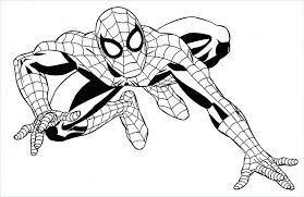 Spiderman Peter Parker Superhero Coloring Pages Boys For Adults Easy