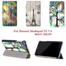 huawei drawing tablet. cy fashion colored drawing pu leather stand case cover shield for huawei mediapad t2 7.0 bgo-dl09 tablet pc with magnetic t