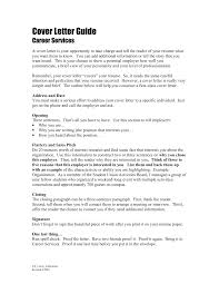 Cover Letter Guide To Writing Cover Letters Guide To Writing