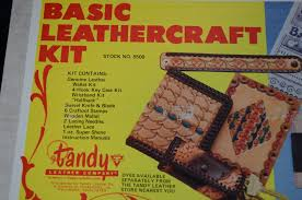 vintage tandy basic leather craft kit 4 projects in 1 nib 50 00 retail