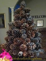 Pine Cone Christmas Tree Craft  Christmas Lights DecorationPine Cone Christmas Tree Craft Project