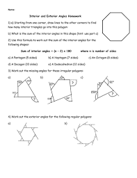 exterior angles triangle worksheet. interior and exterior angles homework by jhofmannmaths - teaching resources tes triangle worksheet