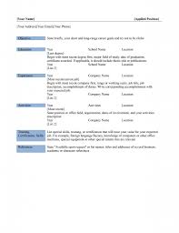 Basic Resume Templates Madinbelgrade