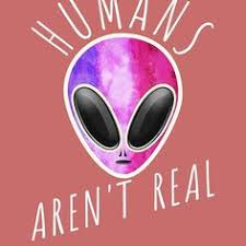 alien funny t shirt humans aren t real cute ufo gift cute alien